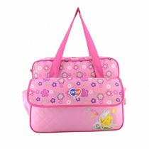 Sacola Bolsa Maternidade Menina Bebe C Trocador Tip Top Rosa