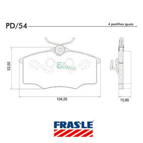 Pd/54 Jg Pastilha Freio Corsa / Ipanema / Gol - Fras-le