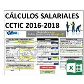 Calculo Prestaciones Sociales Sector Construcción 2016-2018