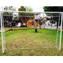 Arco Fútbol 2x3 Mts Con Red Y Estacas Hierro Desarmable Papi