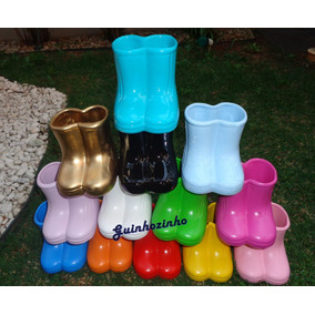 Vaso / Vasinho Cerâmica / Galochas / Botinhas / Botas Peppa