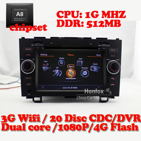 Stereo Multimedia Dvd Gpstv Bt Usb Sd- Honda Cr-v