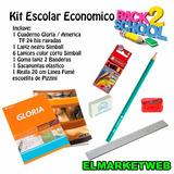 Kit / Set / Combo Escolar 6 Piezas Super Economico Nro 13