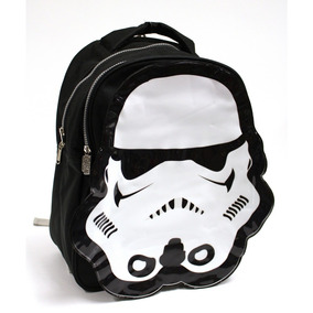 Mochila Disney Star Wars Trooper 2 Compartimentos Negro