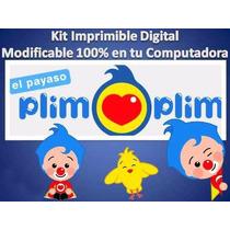 Kit Imprimible Candy Bar Payaso Plim Plim Fiesta Cumpleaños