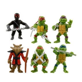 Bonecos Tartarugas Ninjas Kit 6 Miniaturas Coleção Tmnt Raro