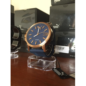 Relógio Puma Ultrasize Bronze/azul - Pronta Entrega + Brinde