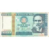 Perú 10000 Intis 1988