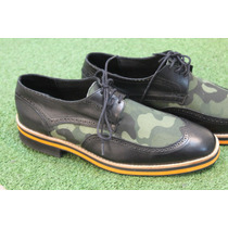 Zapato De Cuero Con Camuflado Moda Ultima Moda Europea
