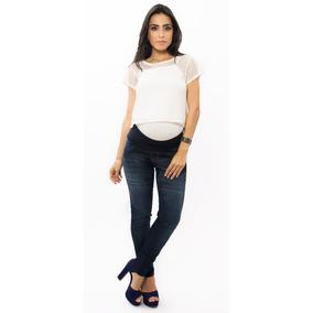 Calça Jeans Gestante Grávida Skinny Areta Due Vita