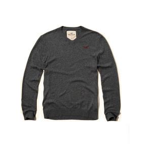 Buzo Hollister Clásico Sweater Cuello En V