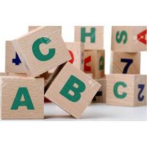 Juguete Didactico Cubos Madera Letras Abecedario Niño Bebe