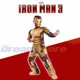 Fantasia Homem De Ferro Máscara Infantil Ironman + Brinde