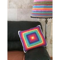 Almohadon Tejido A Crochet Cuadrado 2 Modelos Y Corazon