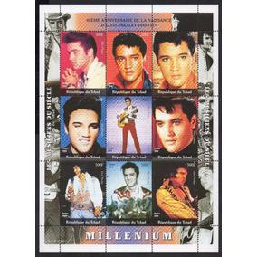 (12088) Bloco Tchad 2000 Homenagem Elvis Presley Novo C/goma
