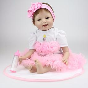 Boneca Bebê Reborn Silicone 55cm Pronta Entrega Frete Grátis