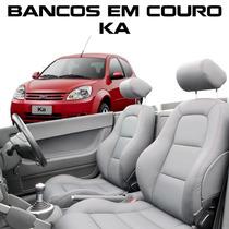 Capa Banco De Couro Ka - Acessórios Ford Ka - Couro Novo Ka