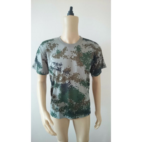 Camiseta Camuflada - Exercito - Caça - Pesca - Camping