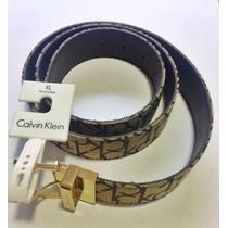 Calvin Klein - Cinto Feminino Reversível Cáqui E Tabaco