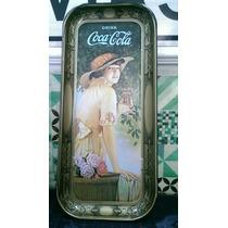 Preciosa Charola Antigua De Coca Cola Vintage