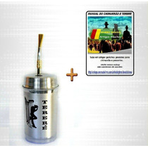 Tt1- Kit Tereré Cuia Alumínio + Bomba + Manual