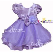 Vestido De Festa Infantil Princesa Sofia Tam 1 Ao 5 E Tiara