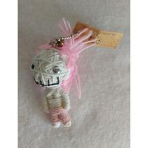 Voodoo Doll Llavero Original Pelo Rosa