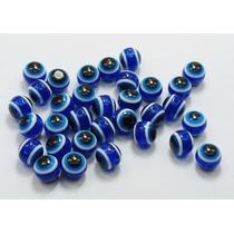 Pérolas Olhos Gregos 10mm Pacote 200 Unid - Miçangas Vidros