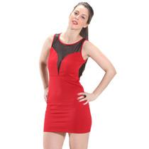 Vestido Rojo Sexy Forever 21 Con Transparencia