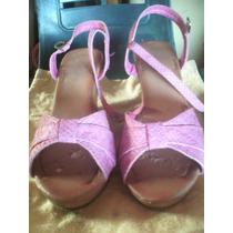 Zapatos Tacon Corrido Talla 37 Y Medio Ver Fotos Descripción