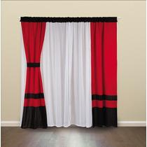 Cortinas rojas cortinas en mercado libre argentina for Cortinas blancas y negras