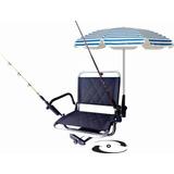 Cadeira De Barco Com Suporte De Guarda Sol E De Varas(elite)