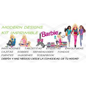 Kit Imprimible Barbie Adornos Invitaciones Recuerdos Y+