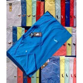 Kit C/15 Camisetas Camisas Gola V Masculina Várias Marcas