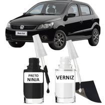 Tinta Tira Risco Automotivo Volkswagen Gol Cor Preto Ninja