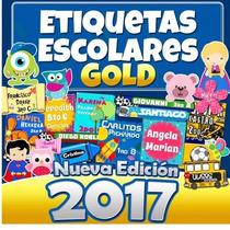 Kit Etiquetas Escolares Kit Gold +8 Gb Imagenes Png Hd 2017