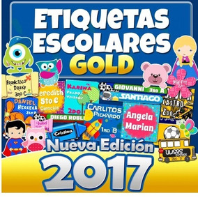 Kit Etiquetas Escolares Kit Gold +8 Gb Imagenes Png Hd 2017
