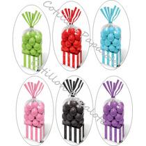 18 Bolsas Rayas 10x15 Baby Shower Bebe Año Candy Bar Dulces