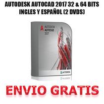 Autocad 2017 32 & 64 Bits En Ingles Español (2 Dvds) + Envio