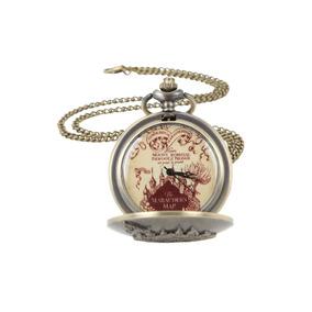 Harry Potter Mapa Del Merodeador Reloj De Bolsillo / Collar
