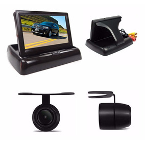 Kit Câmera De Ré Com Monitor Lcd 4.3 Automotivo Interno
