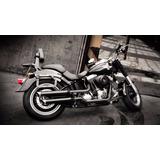 Ponteira Fat Boy Sport Chanfro Regulavel Harley Escape Cobra