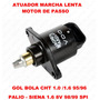 Atuador Marcha Lenta Palio - Siena 1.6 8v 98/99 1-bico