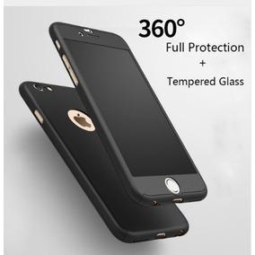 Funda Protector 360 + Cristal Templado Iphone 6 Y 6s Negra