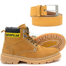 Bota Caterpillar Original Couro + Binde Exclusivo Cinto