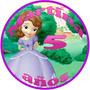 Princesa Sofia Cumpleaños Sticker Para Paleta