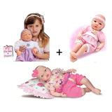 Kit 6 Bonecas : 4 Bebe Tatá + 1 Baby Aninha + 1 Mine Bela