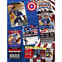 Invitaciones Capitán América-invitaciones Avengers