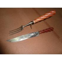 Antiguo Cuchillo Dufour Tenedor Cubiertos