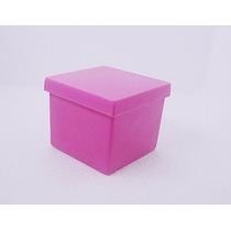 500 - Caixinhas De Acrílico 5x5 Diversas Cores - Moranguinho